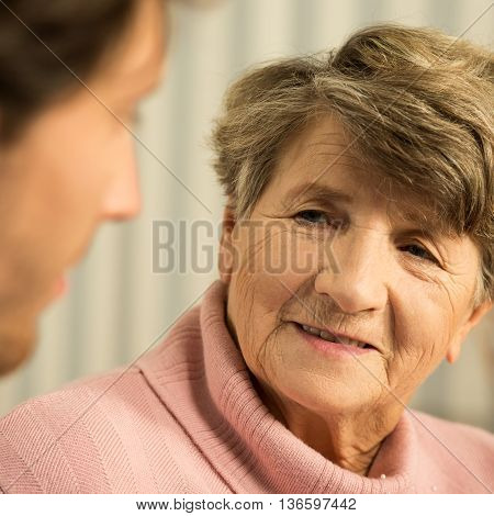 Senior Woman Talking With Doctor