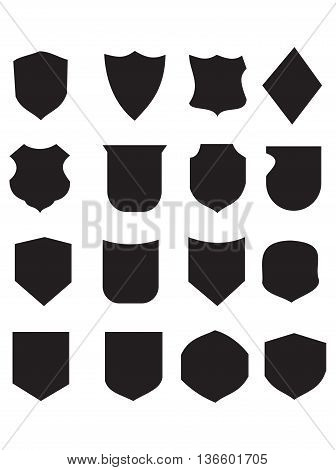 shielding shield symbol coat of arms badge vector