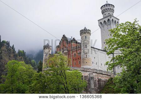 Famous Castle - Neuschwanstein in Bavaria, Germany
