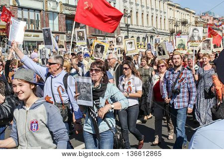 St. Petersburg, Russia - 9 May, Action