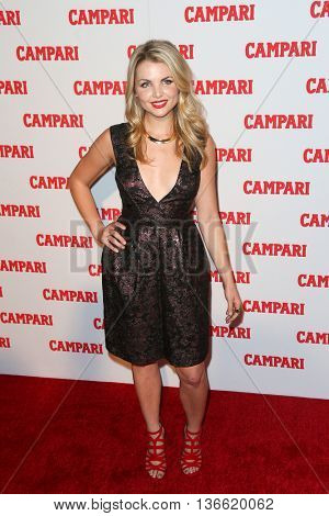 NEW YORK-NOV 18: TV personality Andrea Boehlke attends the 2016 Campari Calendar Launch Event at The Standard Hotel on November 18, 2015 in New York City.