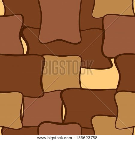 Abstract geometric seamless pattern or bacground brown shades