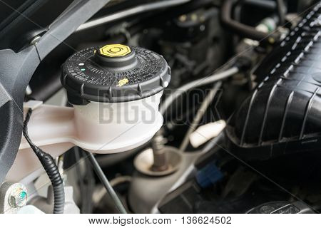 car maintenance check the level of brake and clutch fluid
