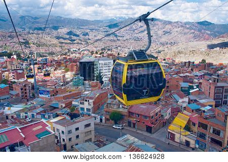Cable Cars  In La Paz.  Bolivia