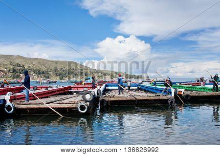 Ferry Service On Lake Titicaca, Bolivia