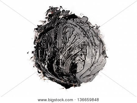 Round shape liquid black tar for background