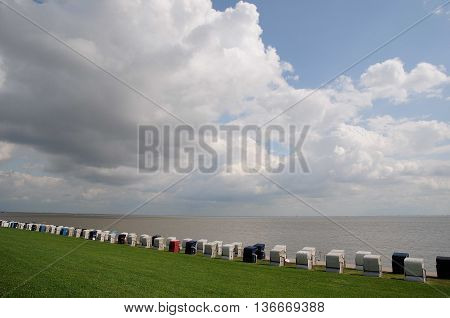at the beach of Wilhelmshaven in germany