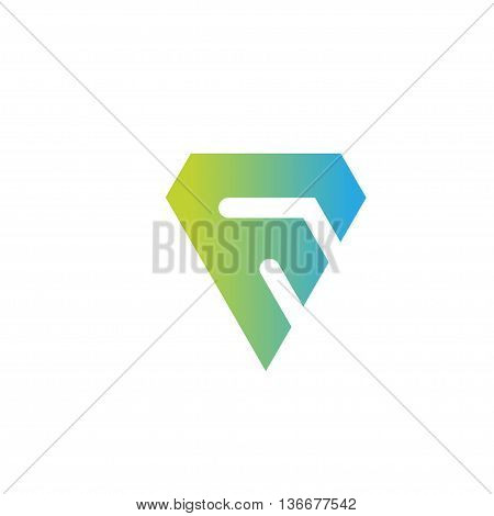 letter f logo sport. strong letter F creative colorful logo vector