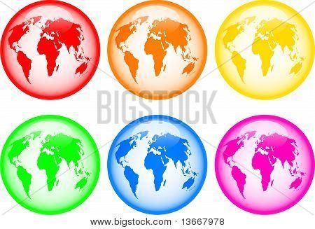 Colourful Glossy Globes