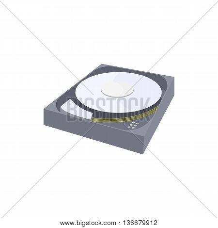 HDD icon in cartoon style on a white background