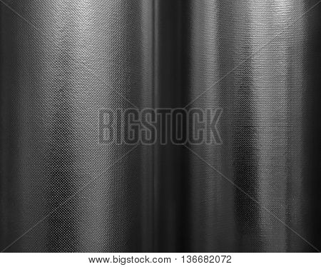 Rolling aluminium thermal isolation material texture stock photo