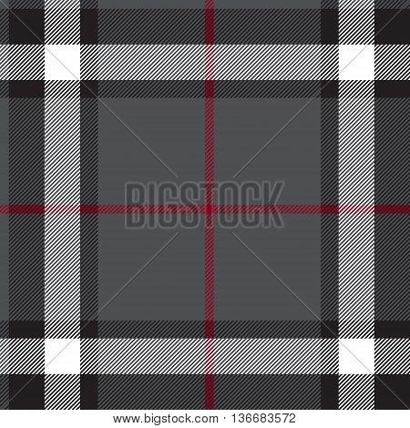 Gray fabric texture check seamless. Vector illustration.