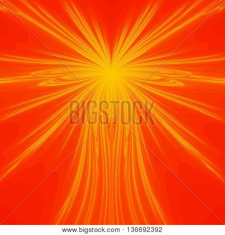 Orange and yellow fractal pattern background or texture