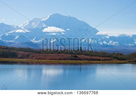 Wonder Lake Denali National Park Alaska Usa