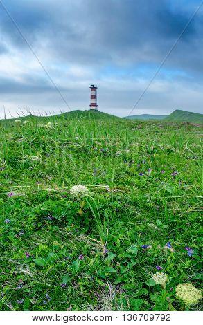 Lighthouse Off Coast Of Island Paramushir, Russia