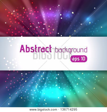 Background With Colorful Light Rays. Abstract Background. Vector Illustration. Colorful Background,