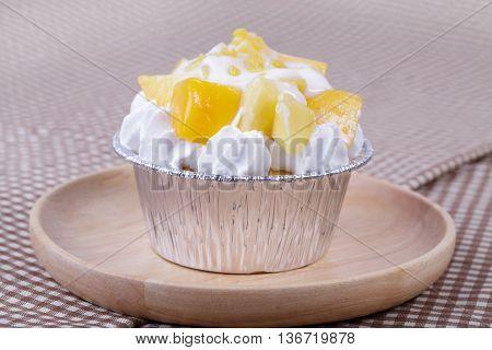 Mango Cupcake With Coconut Milk