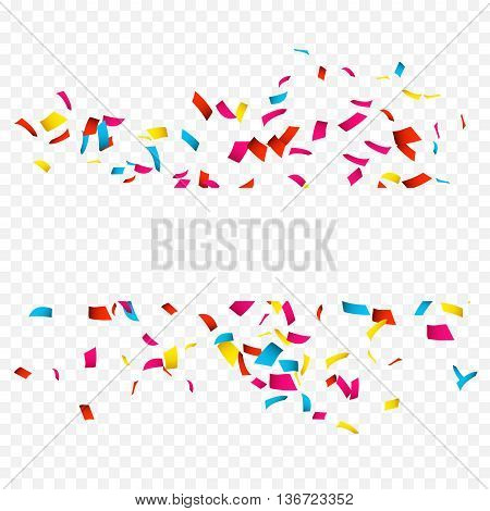 Colorful Confetti isolated on white. Confetti explosion.