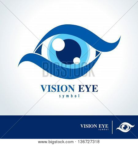 Vision eye symbol icon. vector illustration Logo template design