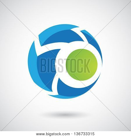 Design Concept of a Logo Shape and Icon of a Rounded Arrow