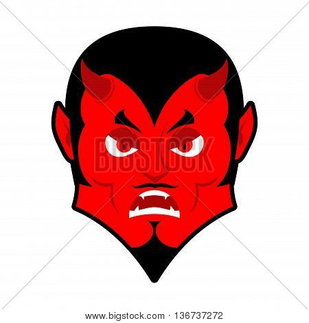 Evil Devil. Angered By Satan. Red Demon Furious. Angry Lucifer. Prince Of Darkness And Underworld. R