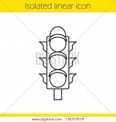Traffic light linear icon. Stoplight thin line illustration. International Traffic Light's Day contour symbol. Vector isolated outline drawing