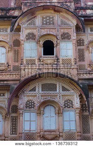 Mehrangarh Fort in Jodhpur in Rajasthan India