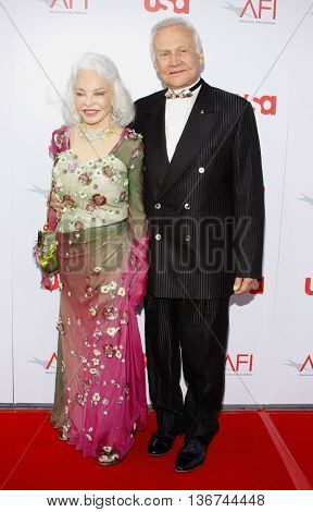 Buzz Aldrin and Lois Driggs Cannon at the 36th AFI Life Achievement Award held at the Kodak Theater in Hollywood, USA on June 12, 2008.