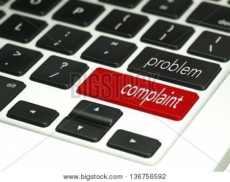 Problem code language in keyboard button. Service concept.