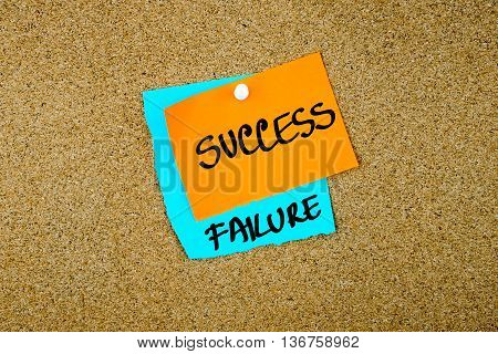 Failure Success Written On Paper Notes