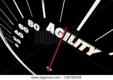 Agility Adaptive Change Ability Speedometer 3d Illustration