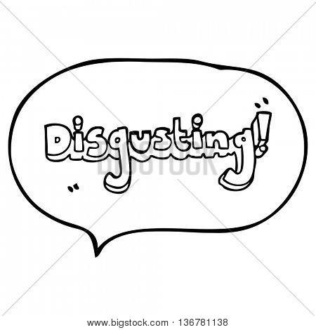 disgusting freehand drawn speech bubble cartoon
