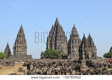 Prambanan, beautiful Temple in Jogja Java Indonesia