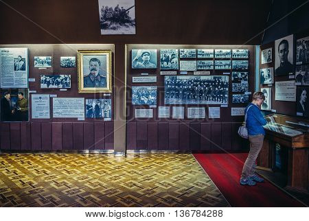 Gori Georgia - July 21 2015. Hall in Museum of Joseph Stalin in his hometown - Gori