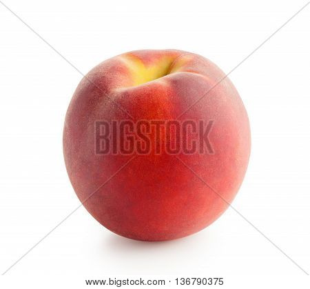 Peach. Fresh peach isolated on white background.