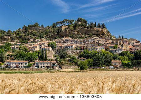 The hill top village of Cadenet in the Luberon Provence