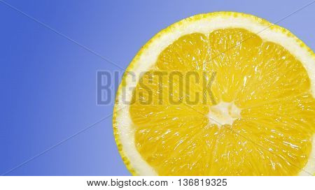 an image of a lemon that sees its texture and color yellow . food that weakens