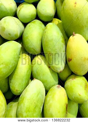 mangoes ready for sale in the market background