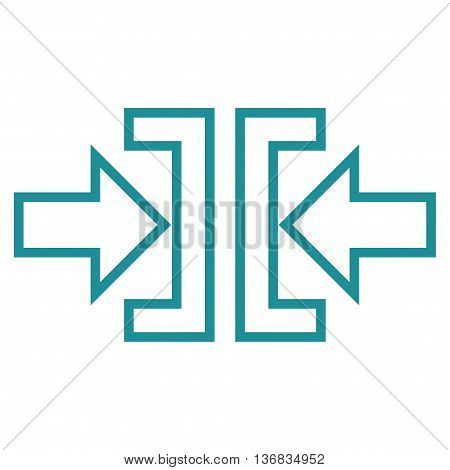 Pressure Horizontal vector icon. Style is contour icon symbol, soft blue color, white background.