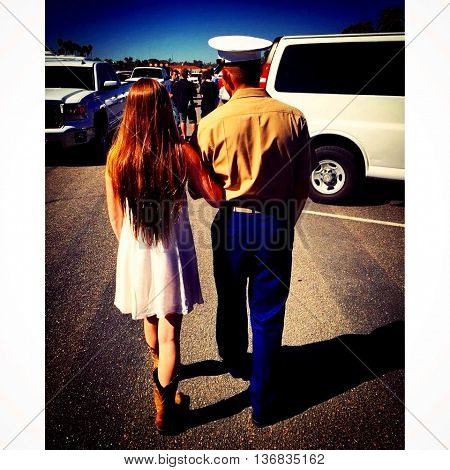 united states marine reunited with his other half
