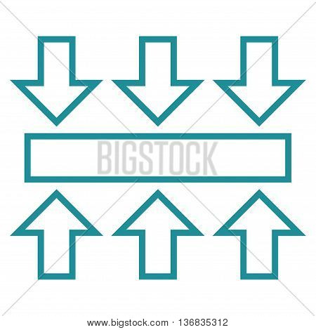 Pressure Vertical vector icon. Style is stroke icon symbol, soft blue color, white background.