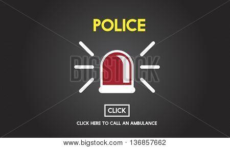 Police Force Cop Municipale Surveillance Officer Law Concept