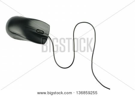 Black 2-button computer mouse isolated on white Stock Photo ID: 1687330 Copyright: Vivid Pixels