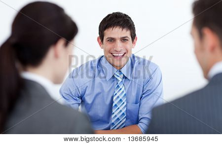 Business people having a job interview in the office