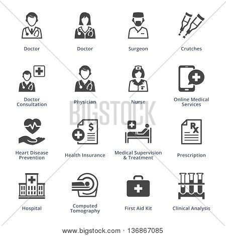 Medical Services Icons Set 4 - Black Series