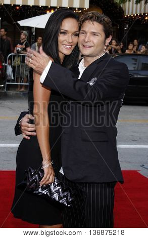 Corey Feldman and Susie Sprague at the Los Angeles premiere of 'Step Brothers' held at the Mann Village Theatre in Westwood, USA on July 15, 2008.