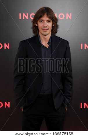 Lukas Haas at the Los Angeles premiere of 'Inception' held at the Grauman's Chinese Theater in Los Angeles, USA on July 13, 2010.