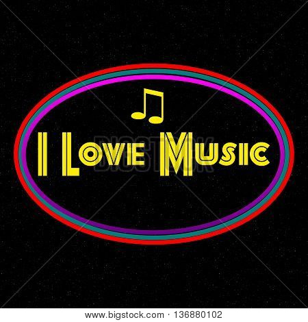 I love music PNG design for graphics