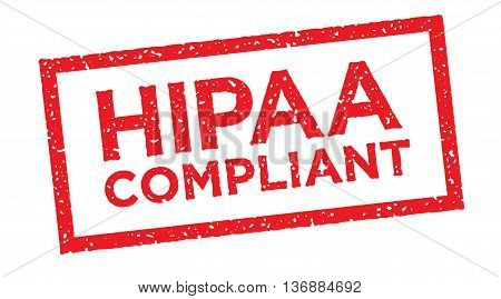 HIPAA Compliant Icon Graphic Rubber Stamp Style