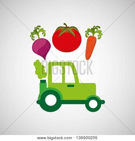 farm tractor isolated icon design, vector illustration  graphic
